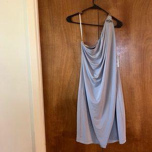 one shoulder London Times dress